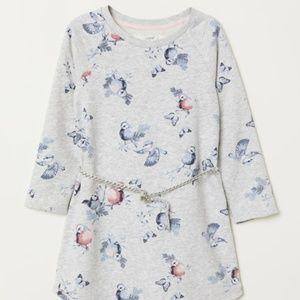 H&M 6-8Y Girls Sweatshirt Dress